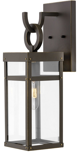 Porter 1 Light Outdoor Wall Light in Oil Rubbed Bronze
