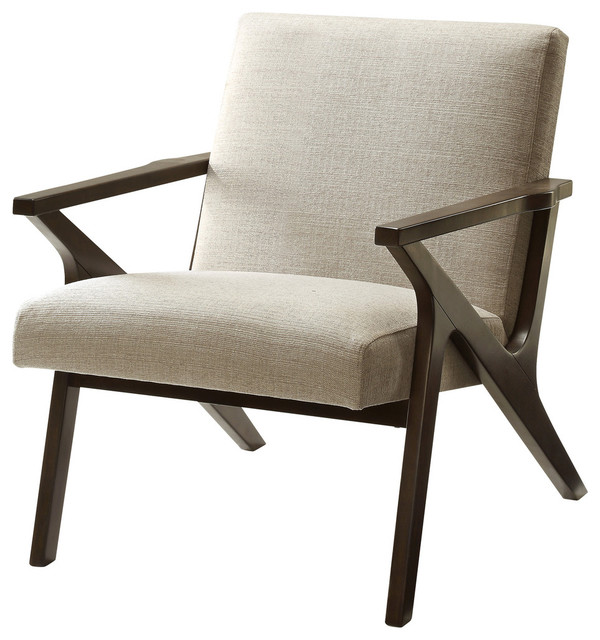 Charmant Mellon Mid Century Arm Chair, Beige