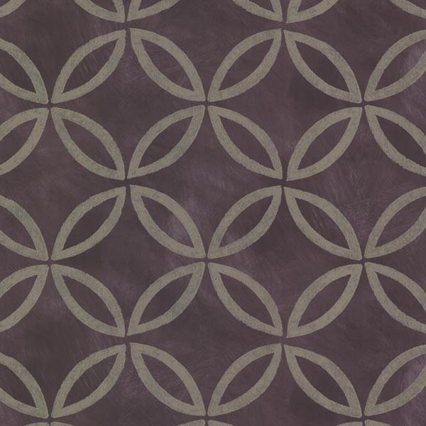 Cloverleaf Purple Geometric Wallpaper Contemporary
