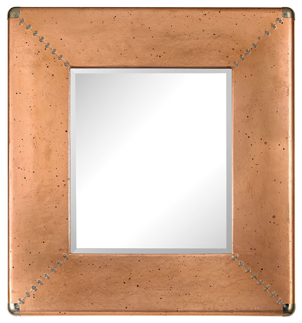 Copper Frame Mirror - Traditional - Wall Mirrors - by LIGHTING JUNGLE