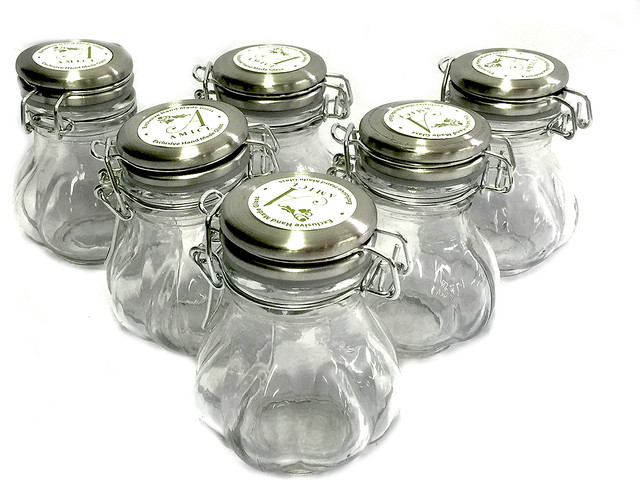 Preserving Spice Jar With Stainless Steel Lid Set of 6 Rustic