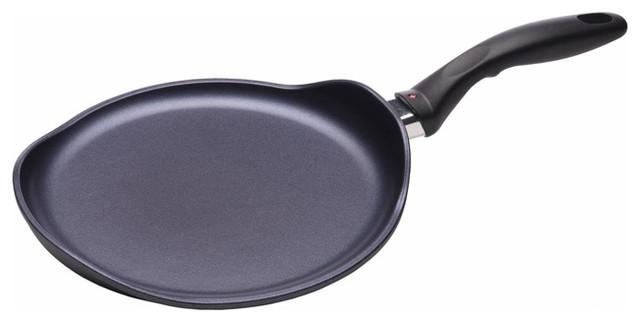 "Swiss Diamond, 10.25"" Induction Crepe Pan."