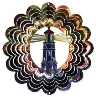 Next Innovations Lighthouse Blue Copper Wind Spinner - 12 in ...