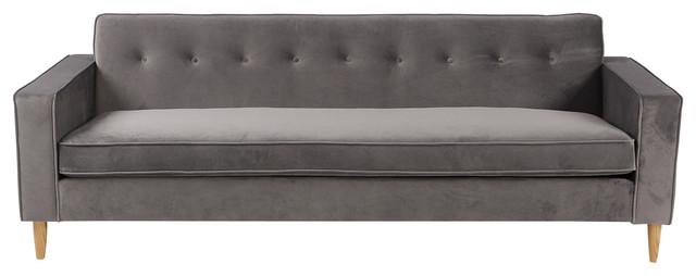 Tremendous Eleanor Midcentury Modern Velvet Plush Sofa Ibusinesslaw Wood Chair Design Ideas Ibusinesslaworg