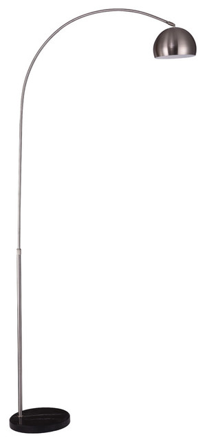 Arcis 1-Light Floor Lamp, Satin Nickel by Elegant Furniture & Lighting