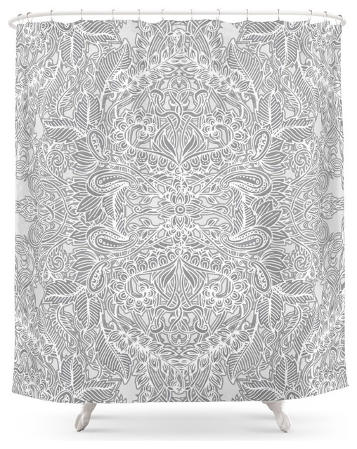 society6 frost and ash, an art nouveau inspired pattern shower