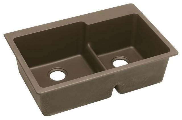 Elkay Elkay Quartz Sink Classic 33 Quot X22 Quot Double Bowl Top