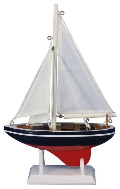 Wooden Endeavour Model Sailboat Decoration 9 Small Wood M
