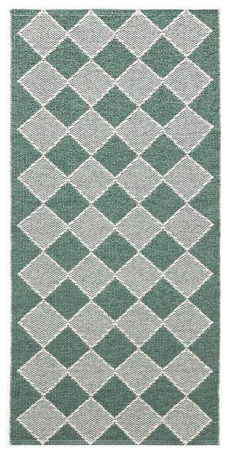 Dialog Woven Vinyl Floor Cloth, Green, 150x200 cm