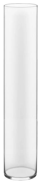 "Handblown Tall Glass Cylinder Vase, 1 Pack, 32""/6"""