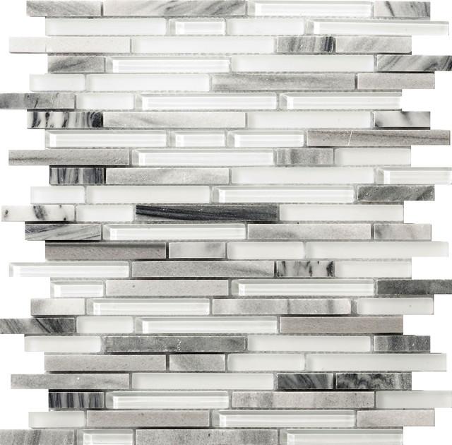 Lucente Grazia 12 X13 Glass Linear Mosaic Tile Set Of 10 Contemporary Mosaic Tile By Emser Tile
