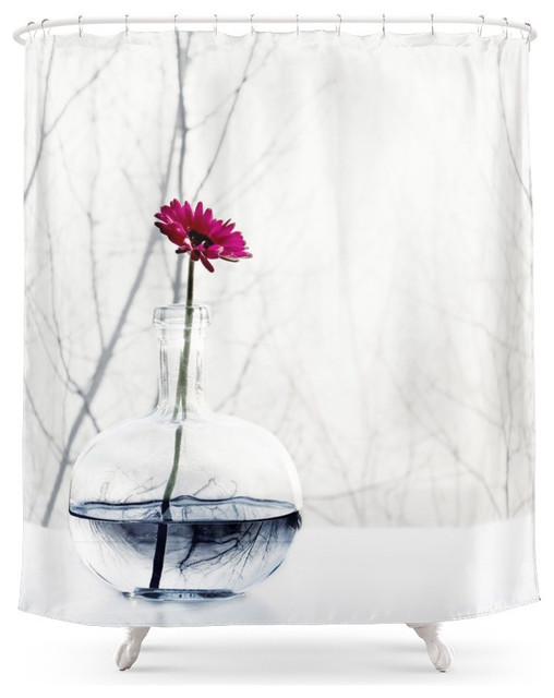 Society6 Flower Shower Curtain Contemporary Shower Curtains