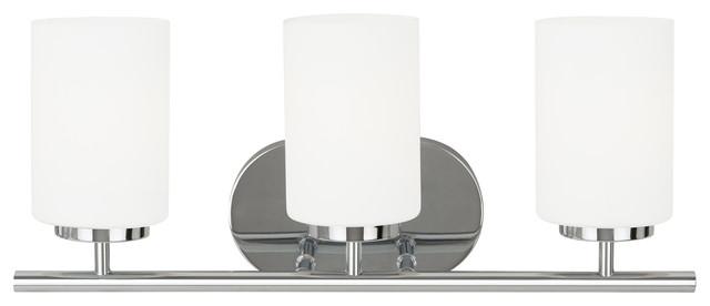 Sea Gull Lighting Windgate 9 In W 3 Light Brushed Nickel: Oslo Bathroom Vanity Light