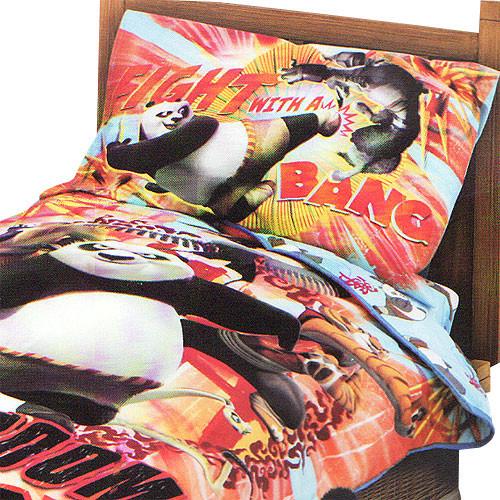 Kung Fu Panda Kaboom 4-Piece Toddler Comforter Bedding Set