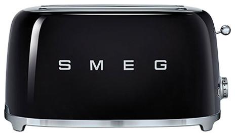 Smeg Retro 50's 4 Slice Toaster With 2 Large Slots, Black