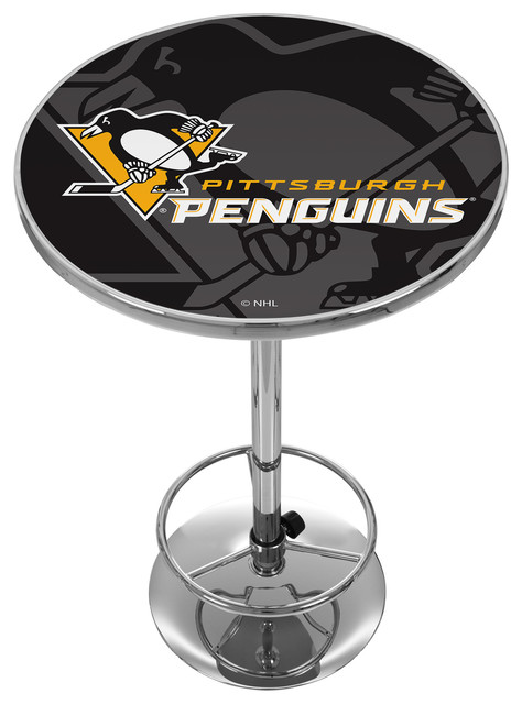Nhl Chrome Pub Table Watermark Pittsburgh Penguins