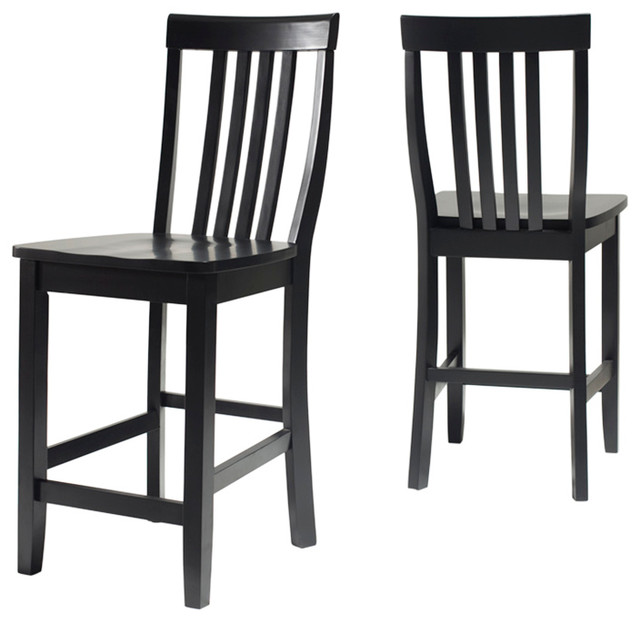 School House Barstool 24quot Seat Height Set of 2 Bar  : bar stools and counter stools from www.houzz.com size 640 x 622 jpeg 55kB