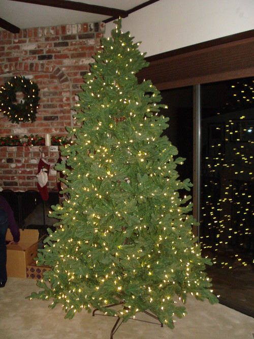 Marvelous Hammacher Schlemmer Christmas Tree Reviews Part - 2: Hereu0027s A Photo Of The Fluffed Tree. Pretty Impressive. Hopefully It Will  Hold Up And The Lights Will Continue To Work. Fluffing Took A  While--probably 30 ...
