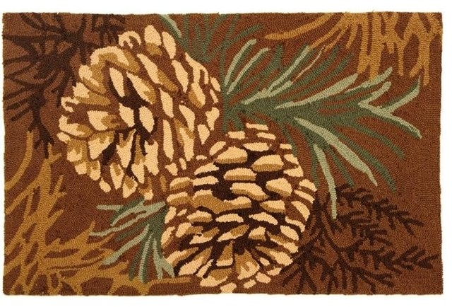 Homefire Rugs Py Hv007 22 Quot X34 Quot Pine Cone Rug Rustic