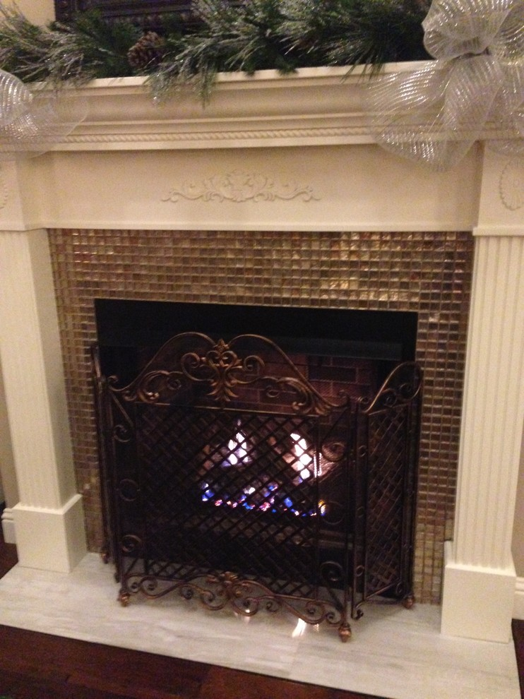 Fireplace Stone and Tile