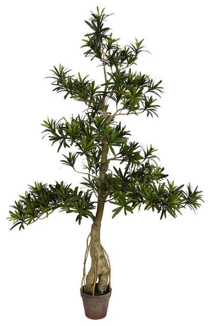 "Birds Nest Fern BUSH 20/"" ARTIFICIAL PLANT OUTDOOR TREE POOL PATIO DECK TOPIARY"