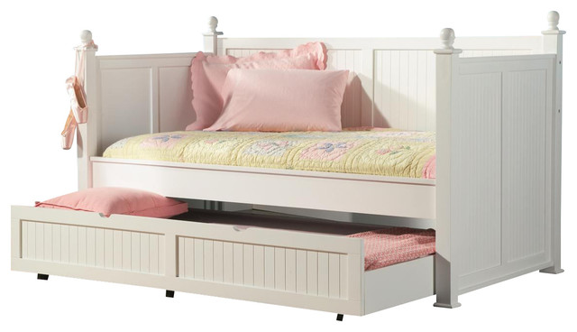 Coaster Classic Twin Daybed With Trundle, White.