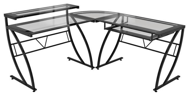 Z Line Feliz Glass L-Desk contemporary-desks-and-hutches