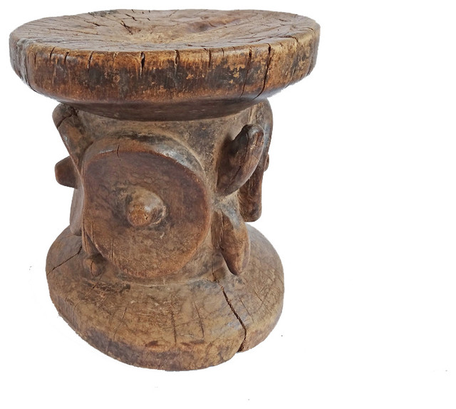 Bembe Carved Tribal Stool, DRC - Tropical - Accent And Garden Stools - by Design Mix Furniture