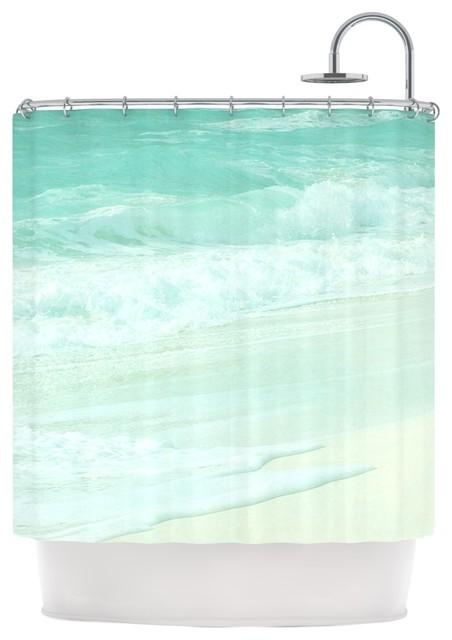 Monika Strigel Paradise Beach Mint Teal Green Shower Curtain Be