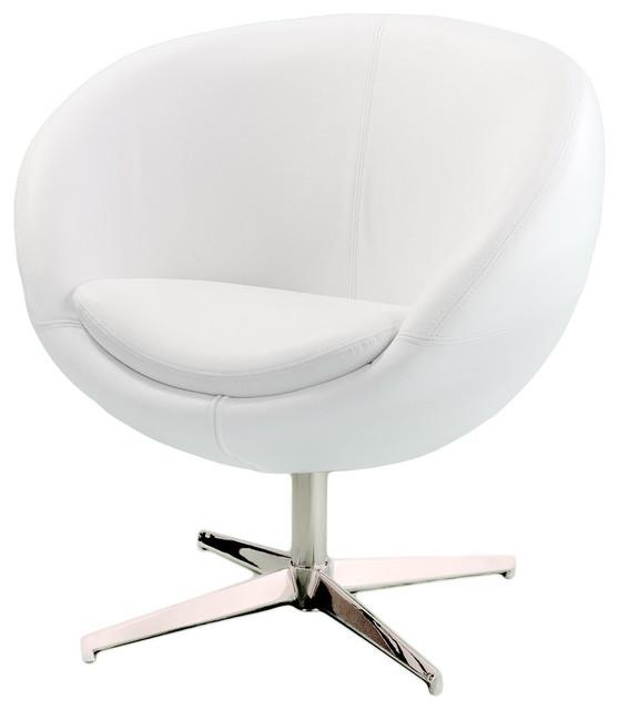 Gdf Studio Sphera Modern Design White Accent Chair Contemporary