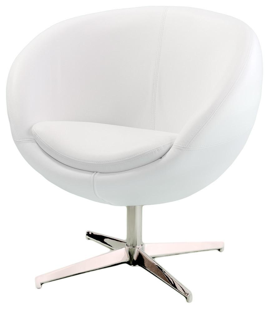 Gdf Studio Sphera Modern Design White Accent Chair