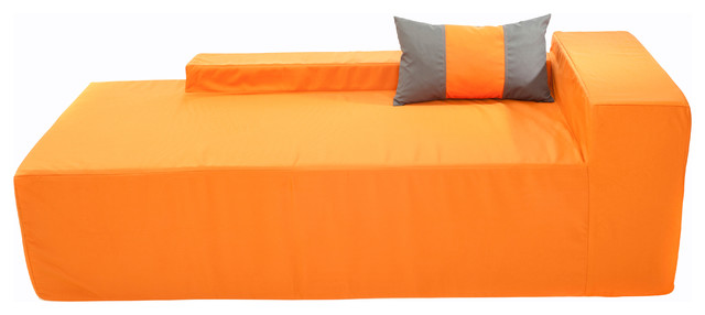 Softblock chaise 70 outdoor chaise lounges houzz for Chaise longue orange