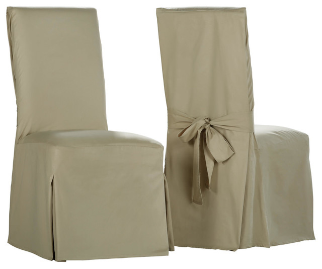 Amazing Shaker Beige Solid Cotton Twill Chair Covers Set Of 2 Pabps2019 Chair Design Images Pabps2019Com