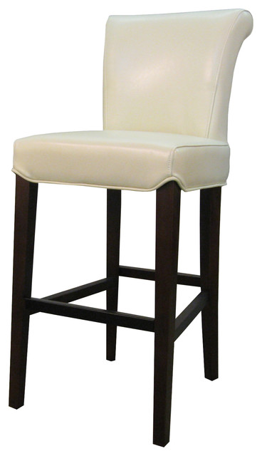 Bentley Leather Counter Stool Beige Transitional Bar