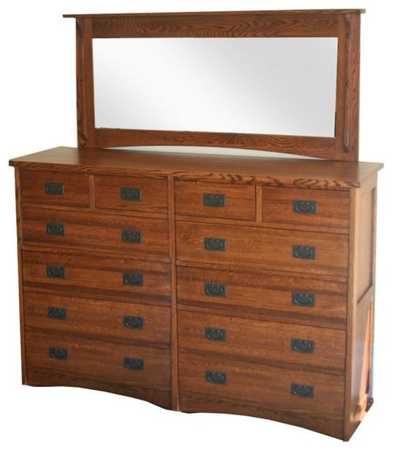 Craftsman Style 12 Drawer Dresser With Mirror 2 485 Est Retail