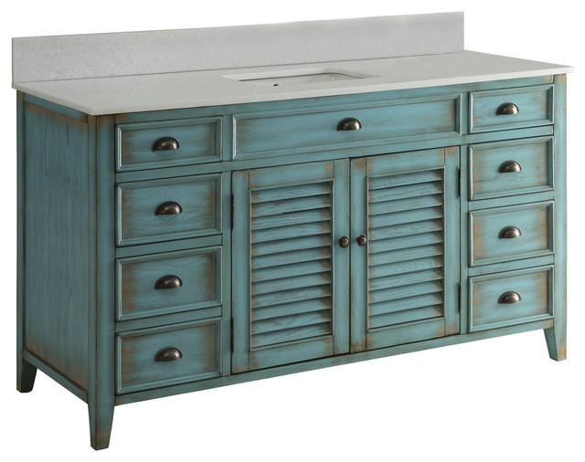"60"" attractive cottage-style abbeville single sink bathroom vanity"