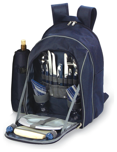 Endeavor 2 Person Picnic Backpack, Navy.