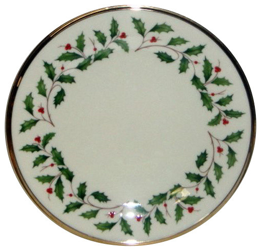 Lenox Holiday Salad Plate (Border Design)  sc 1 st  Houzz & Lenox Holiday Salad Plate (Border Design) - Traditional - Holiday ...