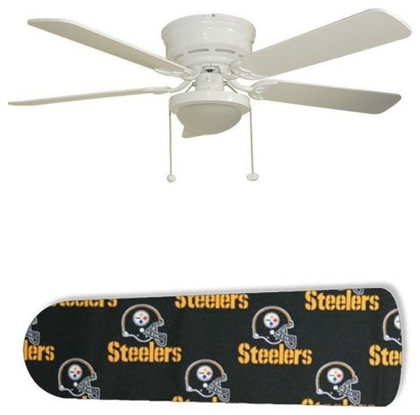 "Pittsburgh Steelers 52"" Ceiling Fan With Lamp."