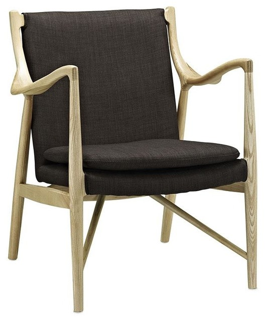 Marvelous Stanley Upholstered Fabric Lounge Chair Natural Brown Camellatalisay Diy Chair Ideas Camellatalisaycom