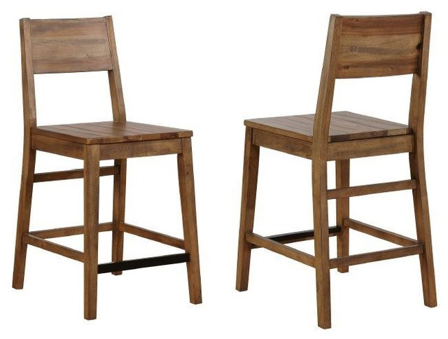 Enjoyable Barnes Rustic Varied Natural Finish Counter Height Stools By Coaster Set Of 2 Uwap Interior Chair Design Uwaporg