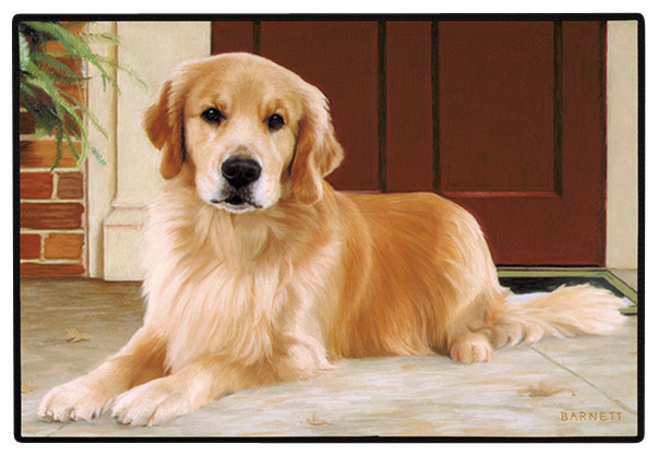 Golden Retriever-Porch Doormat.