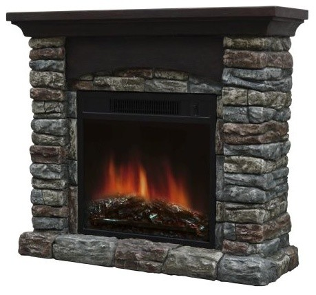 breckin electric fireplace rustic indoor fireplaces by shop