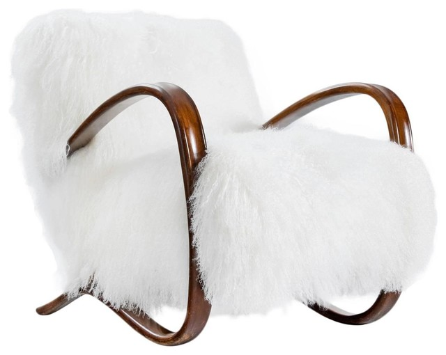 Superior Incredable Chair In Tibetan Lamb Wool Contemporary Armchairs And Accent  Chairs