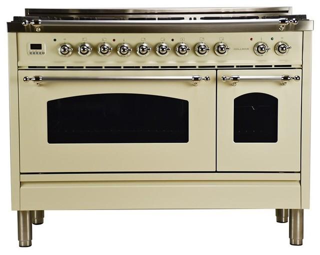 "48"" Double Oven Dual Fuel Italian Range 7-Burners and ..."