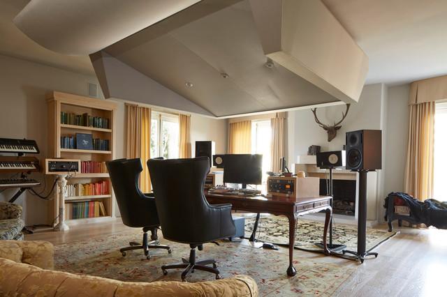 书房吊顶混搭风格装修设计图片