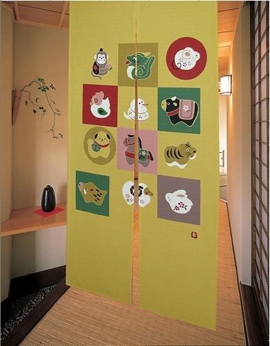 Gentil Unique Chinese Zodiac Door Curtain Asian