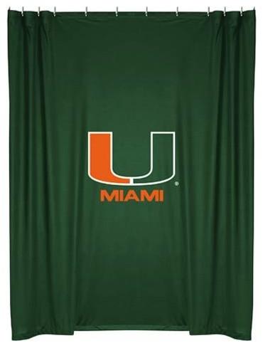 miami hurricanes shower curtain traditional bathroom accessories