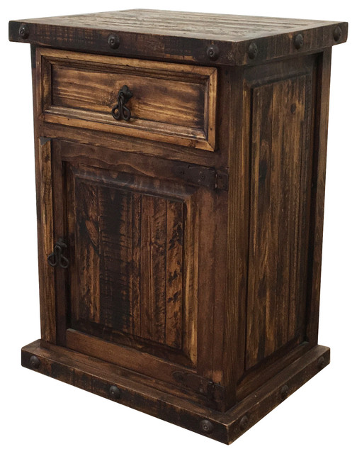 Rustic Oasis Tall Nightstand Nightstands And Bedside Tables By Pina Elegance