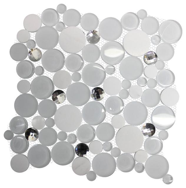11 61 X11 Diamond Daze White Gl Marble Cut Backsplash Tile